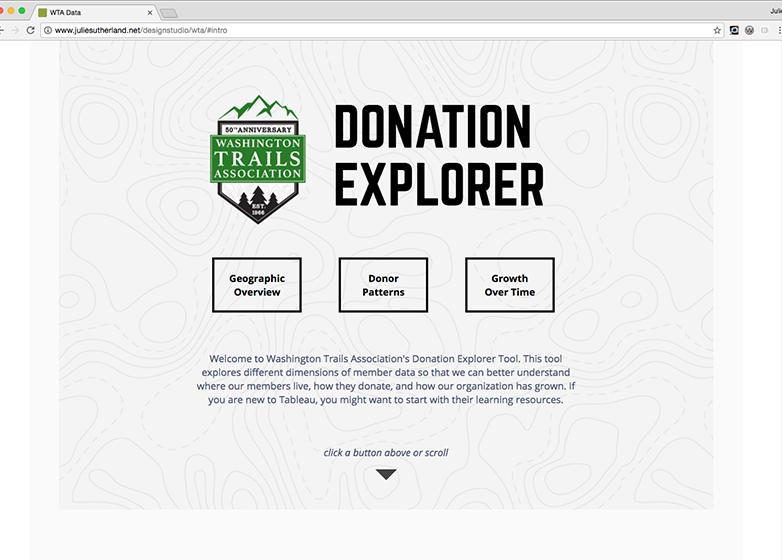 Donation Explorer Intro